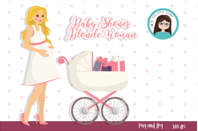 Baby Shower Woman clipart