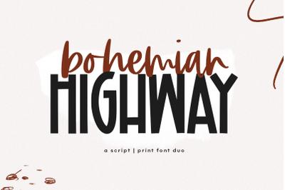Bohemian Highway - Script & Print Font Duo