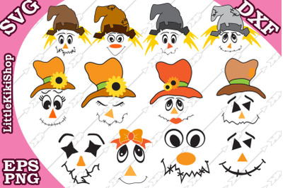 Scarecrow Svg Halloween Svg,Scarecrow Face svg,Thanksgiving