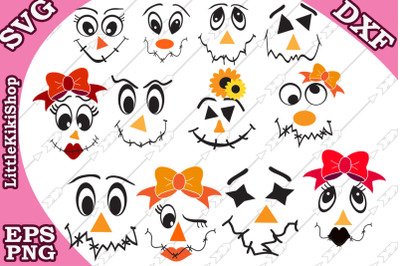 Scarecrow Face svg,Thanksgiving Svg,Funny faces Svg