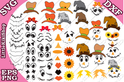 Big Scarecraw Bundle Svg, BIG BUNDLE KIT, Scarecraw kit Svg