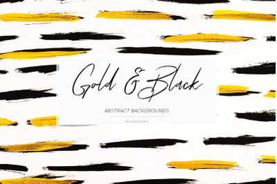 Gold &  Black Abstract Backgrounds