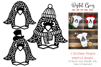 Penguin papercut designs