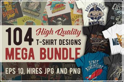 T-shirt designs Mega Bundle 5