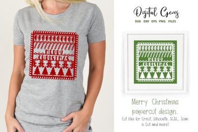 Christmas paper cut design