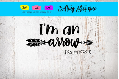 I'm an Arrow, Raising Arrows, Psalms 127:3-5, Christian Mom Sayings