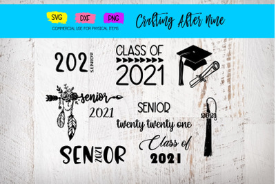Senior 2021 Svg, Graduation Bundle, Diploma, Graduation Cap, Class of