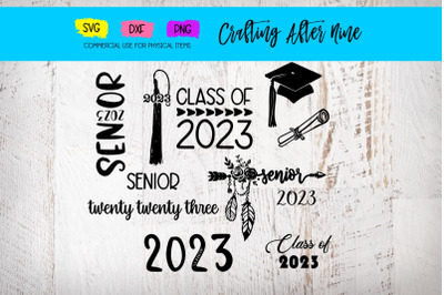 Senior 2023 Svg, Graduation Bundle, Diploma, Graduation Cap, Class of
