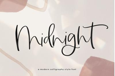 Midnight - A Handwritten Script Font