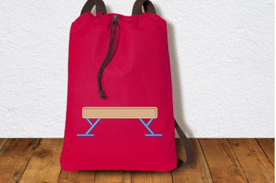Gymnastics Balance Beam | Applique Embroidery