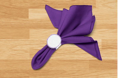 Blank Napkin Ring Circle ITH | Applique Embroidery