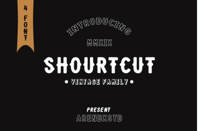 SHOURTCUT Typeface - Display Font