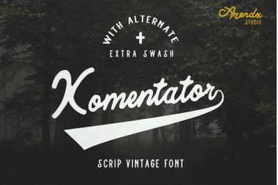 Komentator Vintage Font