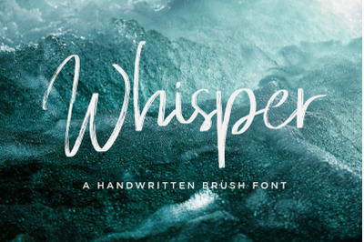 Whisper Brushes Script