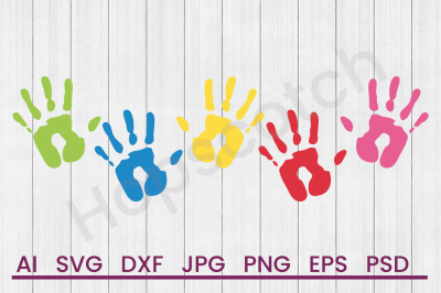 Hand Prints- SVG File, DXF File
