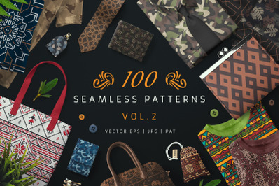 100 Seamless Patterns Vol.2