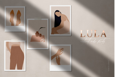 Lula Abstract Nude Prints