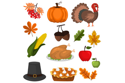 Happy Thanksgiving Celebration Design cartoon autumn greeting