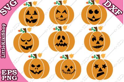 Jack-O-Lantern Svg, Pumpkins clipart,Bundle Pumkin Svg