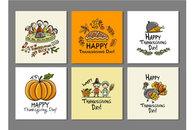 Thanksgiving day, art cards