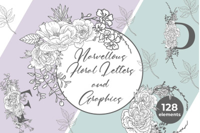 Marvellous Floral Letters and Graphics