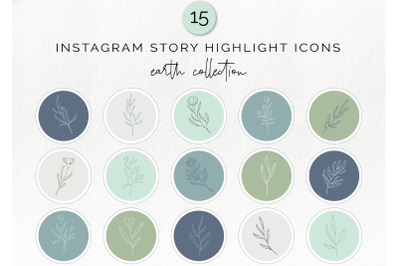 15 Instagram story highlight icons - floral social media icons