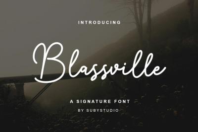 Blassville Handwritten Font