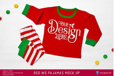 Christmas mock up - Holiday Pajamas
