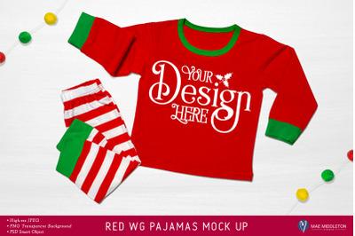 Christmas mock up - Holiday Pajamas