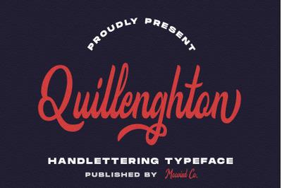 Quillenghton Handlettering Font