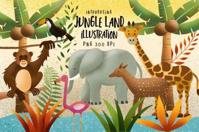 Jungle Land Illustration