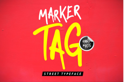 Marker Tag - Streetart Font