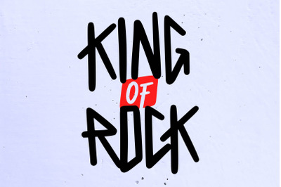King of Rock Font
