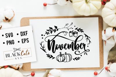 November SVG
