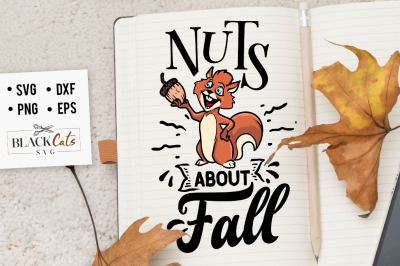 Nuts about fall SVG