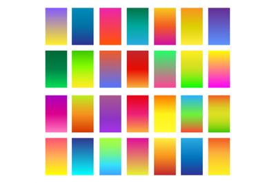 Color gradients set