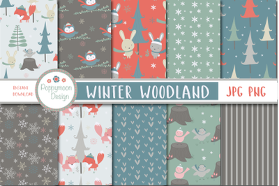 Winter Woodland Paper