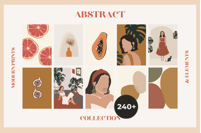 Abstract collection: modern minimal prints & elements