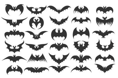 Halloween bat icons