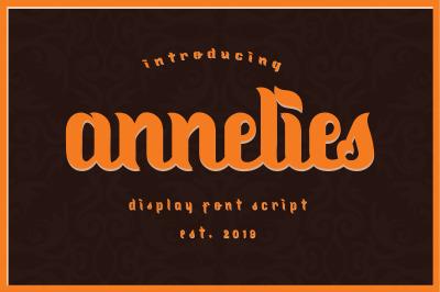 Annelies Display Script Font
