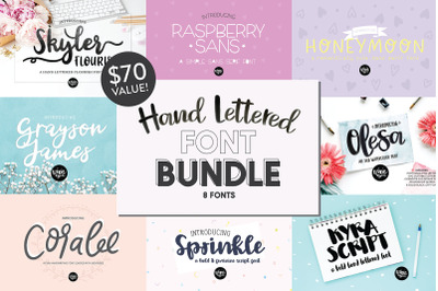 Hand Lettered .OTF Font Bundle Vol. 3
