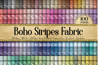 100 Tribal Boho Stripes Mexican Peruvian Digital Papers