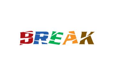 break letter logo