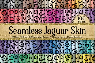 100 Seamless Jaguar Skin Print Animal Tribal Digital Papers