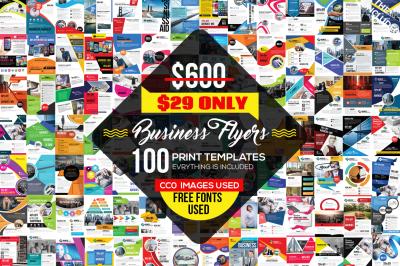 100 Business Flyers Bundle Vol.2