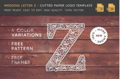Wedding Letter Z Logo Template