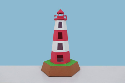 DIY Lighthouse model - 3d papercraft