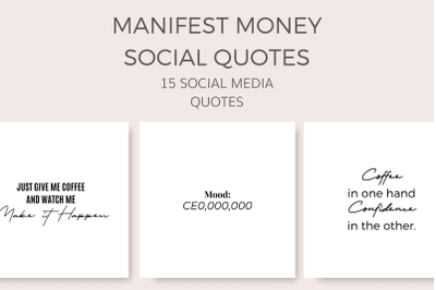 Manifest Money Social Quotes