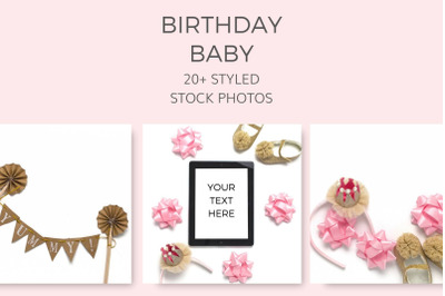 Birthday Baby Styled Stock Photos