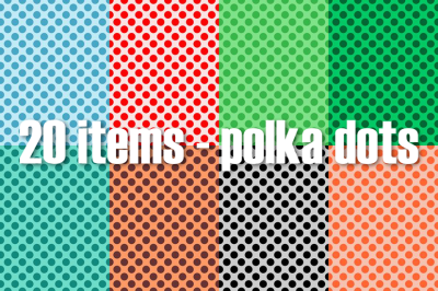Polka dot patterns two colors